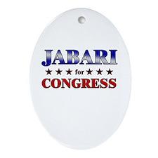 JABARI for congress Oval Ornament