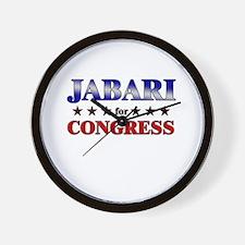 JABARI for congress Wall Clock