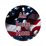 Air force mom christmas ornament Round Ornaments