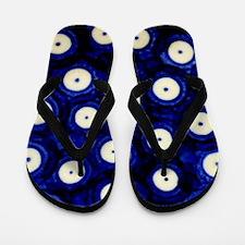Polish Pottery Polka Dots Flip Flops