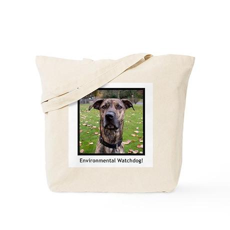 Environmental Watchdog canvas tote bag.