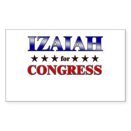 IZAIAH for congress Rectangle Sticker