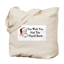 Santa's Playoff Beard Tote Bag