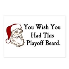 Santa's Playoff Beard Postcards (Package of 8)