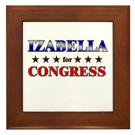 IZABELLA for congress Framed Tile