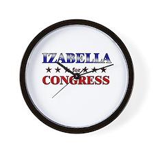 IZABELLA for congress Wall Clock