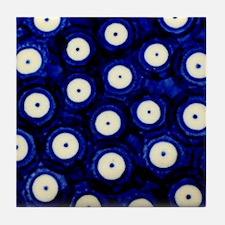 Polish Pottery Polka Dots Tile Coaster
