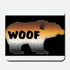 PRIDE BEAR/WOOF/BLK Mousepad