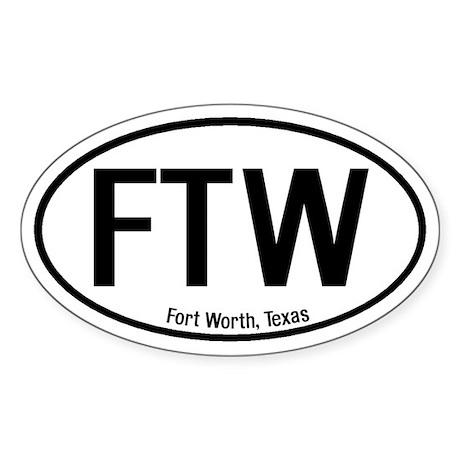 Fort Worth, Texas Oval Sticker