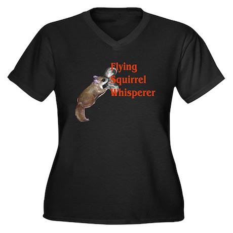 Flying Squirrel Whisperer Women's Plus Size V-Neck