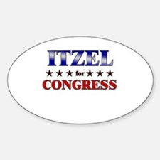 ITZEL for congress Oval Decal