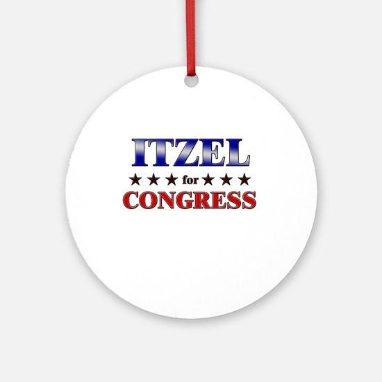 ITZEL for congress Ornament (Round)