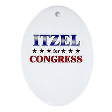 ITZEL for congress Oval Ornament