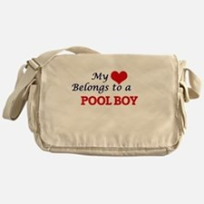 My heart belongs to a Pool Boy Messenger Bag