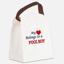 My heart belongs to a Pool Boy Canvas Lunch Bag