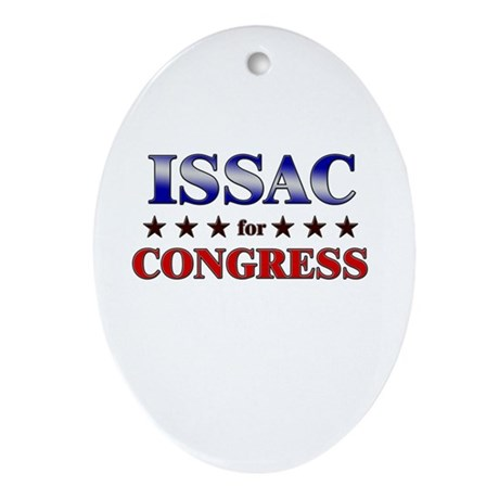 ISSAC for congress Oval Ornament