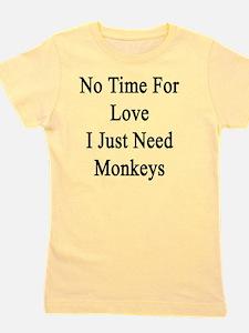 Funny Monkey lover Girl's Tee