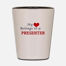 My heart belongs to a Presenter Shot Glass