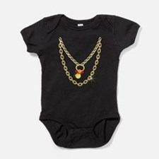 Baby Pimpin - Bling Pacifier Baby Bodysuit