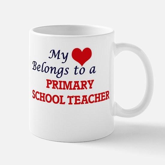 My heart belongs to a Primary School Teacher Mugs