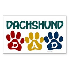 Dachshund Dad 1 Rectangle Decal