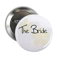 The Bride Yellow Flowers Button