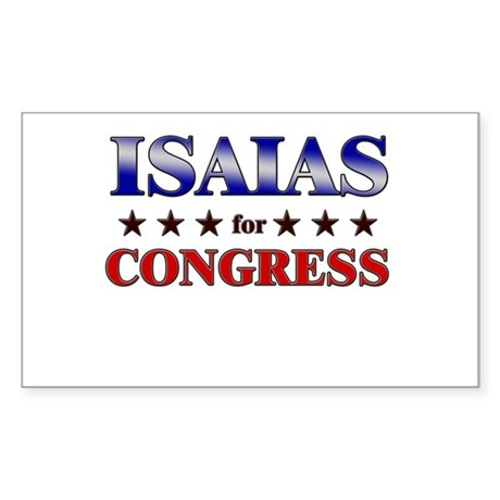 ISAIAS for congress Rectangle Sticker
