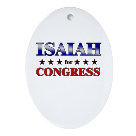 ISAIAH for congress Oval Ornament