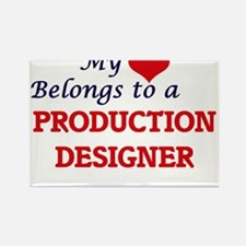 My heart belongs to a Production Designer Magnets
