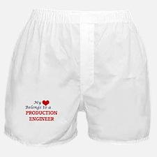 My heart belongs to a Production Engi Boxer Shorts