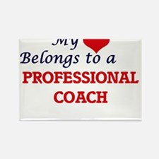 My heart belongs to a Professional Coach Magnets