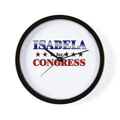 ISABELA for congress Wall Clock