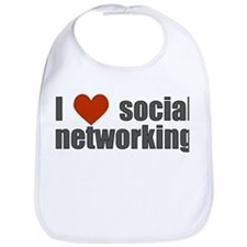 I Love Social Networking Bib