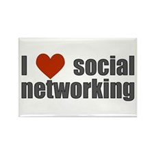 I Love Social Networking Rectangle Magnet
