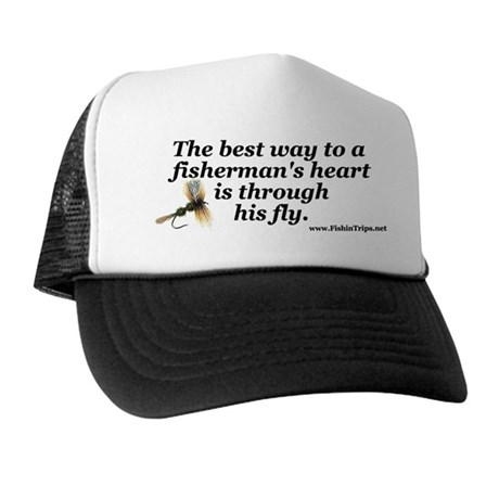 Fly fishing trucker hat by fishintrips for Fly fishing trucker hat