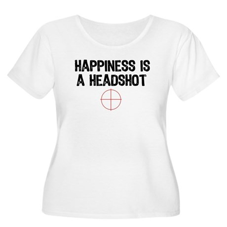 Happiness is a Headshot Women's Plus Size Scoop Ne