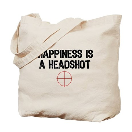 Happiness is a Headshot Tote Bag