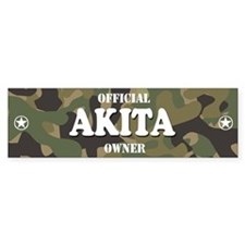 AKITA Bumper Car Sticker