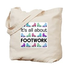 Footwork Black Letters Tote Bag
