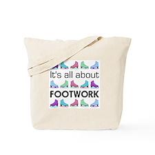 Footwork Black Letters Tote Bag