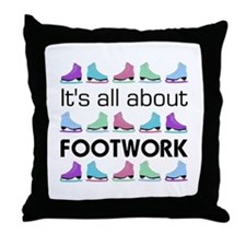 Footwork Black Letters Throw Pillow