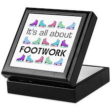 Footwork Black Letters Keepsake Box