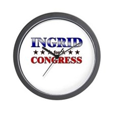 INGRID for congress Wall Clock