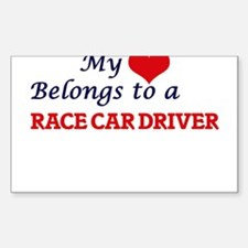 My heart belongs to a Race Car Driver Decal
