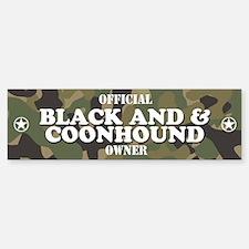 BLACK AND TAN COONHOUND Bumper Bumper Bumper Sticker