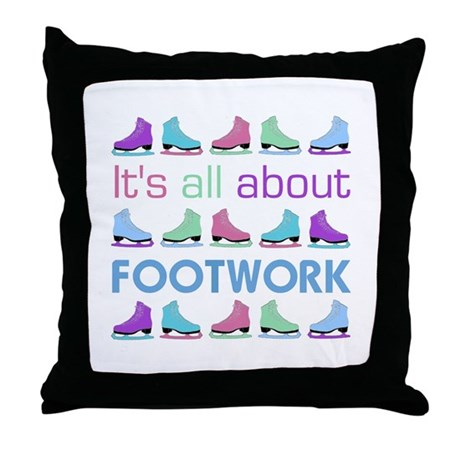 Footwork Multi Letters Throw Pillow