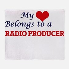 My heart belongs to a Radio Producer Throw Blanket