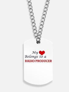My heart belongs to a Radio Producer Dog Tags