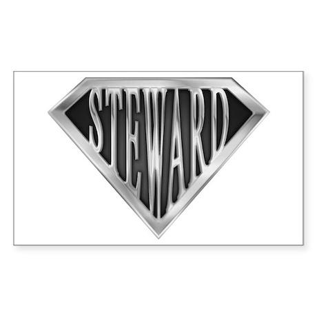 SuperSteward(metal) Rectangle Sticker