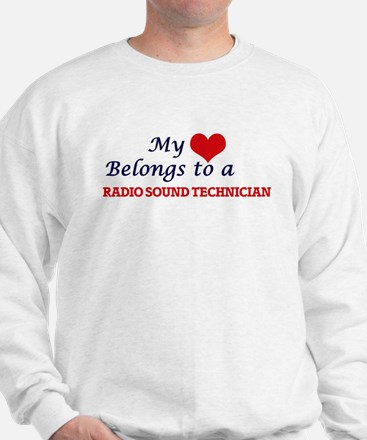My heart belongs to a Radio Sound Techn Sweatshirt